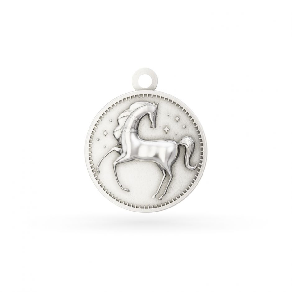 Licensed to Charm - Sterling Silver Enchanted Animals Horse Charm