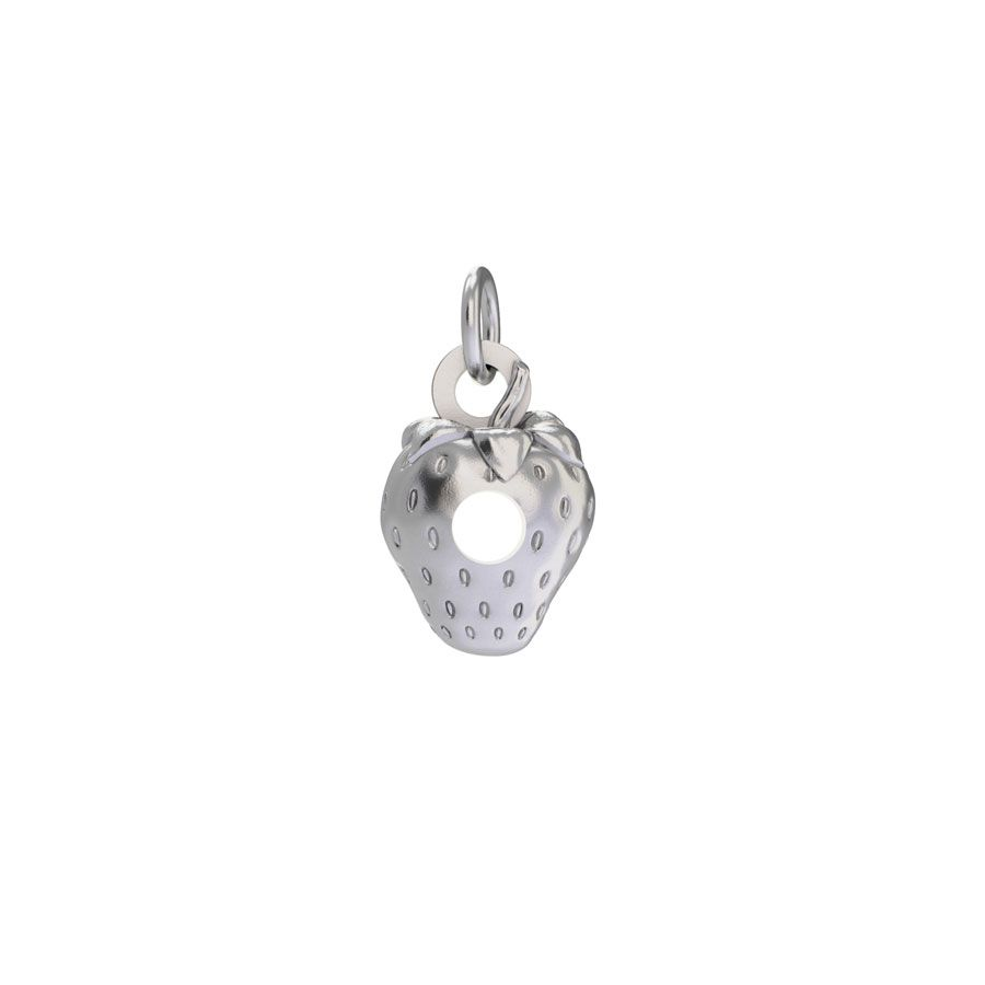 Sterling Silver Very Hungry Caterpillar Strawberry Charm