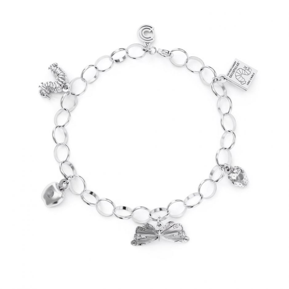 Sterling Silver Very Hungry Caterpillar Complete Charm Bracelet Set