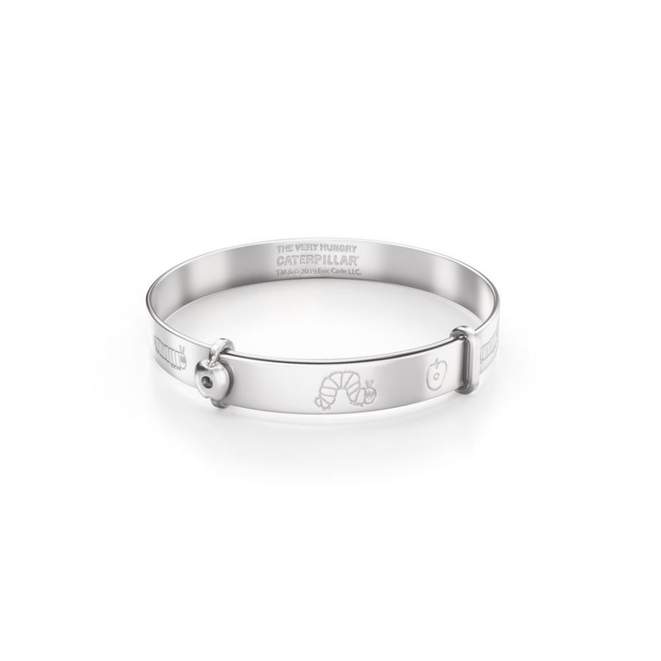 Sterling Silver Very Hungry Caterpillar My First Bangle